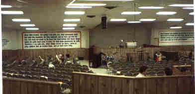 Inside Dr. Hobart E. Freeman's Faith Assembly, in Noble County, IN, near North Webster, IN