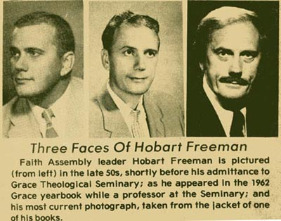 The faces of Dr. Hobart E. Freeman